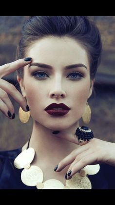 Love a bold, dark lip for the cooler months.