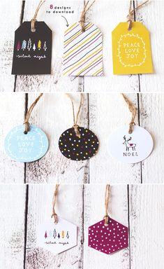 Etiquetas imprimibles / free printable tags                                                                                                                                                     Más