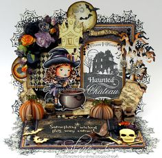 Created-By-Silvie-Z.: La-La Land Crafts - HALLOWEEN release with CAULDRON WITCH MARCI ♥♥