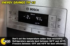Energy Saving Tips, Save Energy, Refrigerator Freezer, 2 Set, Oasis, Saving Money, Save My Money, Money Savers, Frugal