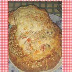 Chicken mushroom stuffed bread