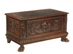 English Dowry Chest - 19th C Renaissance Revival