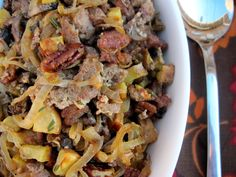 #paleo #thanksgiving caramelized onion and sausage stuffing