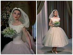 Vestido de Noiva do Filme Cinderela em Paris. Desenhado por Hubert de Givenchy. Década de 1950.
