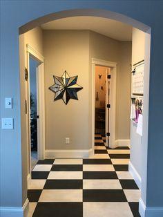 My checkered floor! #blackandwhite #tile #tristarbuilders