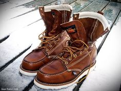 Just picked up a pair of these for the long Ithaca winter. Thorogood Moc Toe Boots