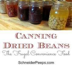 SchneiderPeeps - Canning Dried Beans - The frugal convenience food Dairy Free Recipes, Real Food Recipes, Vegan Recipes, Just Like Candy, Pressure Canning, Healthy Foods To Eat, Healthy Eating, Dried Beans, Convenience Food