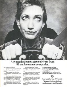 Vintage Ad #1,168: Sympathy from the Car Insurance Industry  | Car photo
