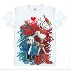 10.01$  Watch more here - Free Shipping Game Undertale T-Shirt Short Sleeve Undertale sans and papyrus Top Tees Teens Shirt skulll brother anime clothes   #magazine