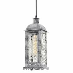This light fitting adds a Shabby Chic Feeling to any room. Trends, Light Fittings, Lamp Design, Bauhaus, Lamp Light, Antique Silver, Vintage Antiques, Lanterns, Shabby Chic
