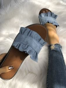 Find out New Look's fashionable assortment of ladies heeled flip flops, with block back flip flops, strappy sandals and method styles. Heeled Flip Flops, Flip Flop Sandals, Jean Sandals, Strappy Sandals, Heeled Sandals, Shoes Sandals, Denim Sandals, Sandal Heels, Women Sandals