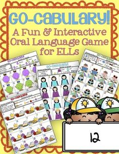 Go-cabulary! A Fun Interactive Oral Language Game for ESL/ELLs!