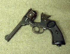 Webley .38 revolver. The one I want is a .455 http://www.history-making.com/large_product_image.php?p=958&i=2