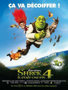 Shrek 4 : Il était une fin (Shrek Forever After) est un film d'animation américain de Mike Mitchell, sorti en 2010. Le film commence par l'habituel récit de l'histoire de Fiona. C'est alors que l'on découvre le principal antagoniste de cet épisode : Tracassin, gnome spécialisé dans les transactions magiques, avait pour ambition de régner en maître sur le royaume de Fort Fort Lointain. Le roi Harold et la reine Liliane, désespérés de ne pas pouvoir retrouver leur fille, avaient pris la…