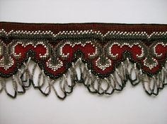 Antique Victorian Beadwork Needlepoint Pelmet by cottagecollection, $125.00