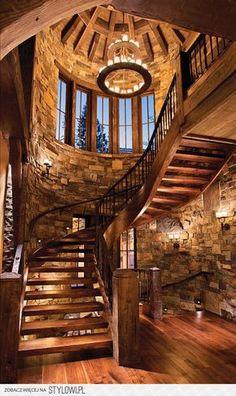 Incredible. Stone & wood. Rustic & elegant.
