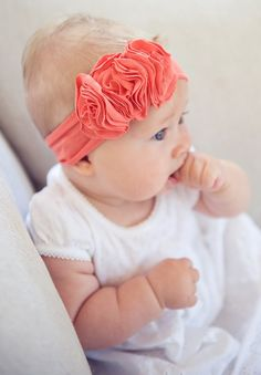 "Never mind the headband. Just too cute - ""headband"" Cute Headbands, Diy Headband, Headband Flowers, Rosette Headband, Floral Headbands, My Baby Girl, Cute Kids, Cute Babies, Diy Bebe"