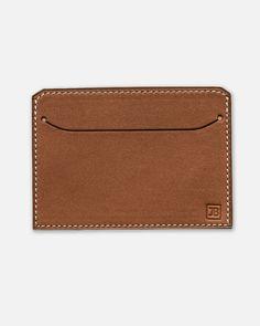 Notre porte-cartes en cuir Barenia marron Wynton - Brown. Toute la douceur d'un cuir Barenia marron pour un porte-cartes fabriqué en France par nos artisans