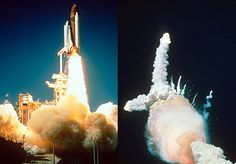 The Space Shuttle Challenger Disaster.