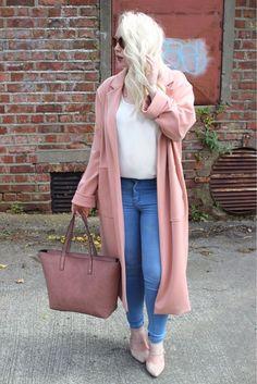 dusty pink mac coat Dusty Pink, Duster Coat, Mac, Jackets, Blog, Fashion, Down Jackets, Moda, Fashion Styles