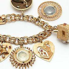 14kt Gold Charm Bracelet Google Search Vintage Silver
