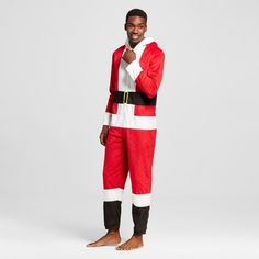 Men's Santa Claus Union Suit Red : Target