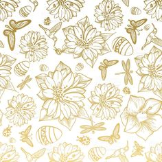 Find Seamless Pattern Flowers Egg Butterflies Hummingbirds stock images in HD and millions of other royalty-free stock photos, illustrations and vectors in the Shutterstock collection. Flower Art Images, Abstract Flower Art, Gold Background, Flower Patterns, Vector Art, Paper Art, Butterfly, Drawings, Illustration
