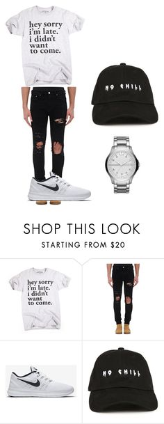 """""""no name"""" by athena420 ❤ liked on Polyvore featuring AMIRI, NIKE, Armani Exchange, men's fashion and menswear"""