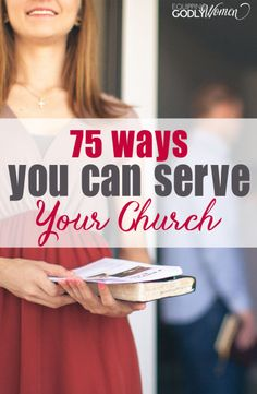 75 Ways You Can Serve Your Church Running a church requires a lot of hands. Here are 75 ways YOU can help serve your church. Church Ministry, Youth Ministry, Ministry Ideas, Christian Women, Christian Life, Christian Living, Christian Church, My Church, Church Ideas