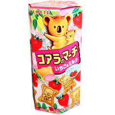 Lotte Strawberry Filled Koala Biscuits 1.69 oz