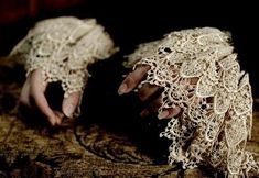lace, hands, and victorian image