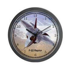 F-22 Raptor Wall Clock Aircraft Wall Clocks #Clocks #gifts
