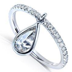 Unique Black Diamond Engagement Rings | dangle diamond engagement ring is one of the most different rings ...