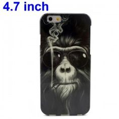 iPhone 6 (4.7 inch) Smoking Monkey TPU Cover, hoesje, case