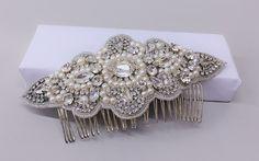 bridal pearl comb