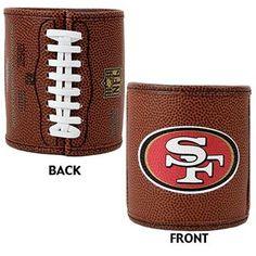 San Francisco 49ers 2pc Football Can Holder Set