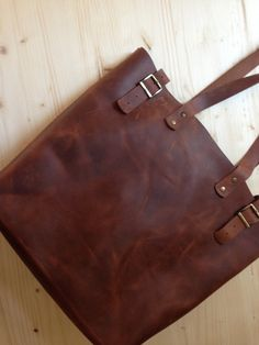 Best Price Brown Leather Tote.Brown leather tote by MrArtigiano