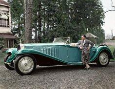 1932. Jean Bugatti with the Bugatti Royale 'Esders' Roadster.