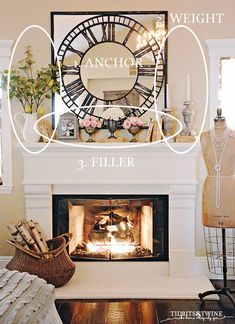 How to Decorate a Mantel Like a Pro! Learn to style a mantel. So easy! - - Ready to learn how to decorate a mantel like a pro? It's not as hard as you might think! Learn these 3 easy steps and you'll be styling a mantel like a pro! Bedroom Decor, Farmhouse Decor, Mantle Decor, Small Room Design, Diy Bedroom Decor, Fireplace Mantel Decor, Living Room Decor, Fireplace, Farmhouse Fireplace Mantels