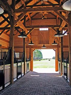 Handcrafted timber frame with beautiful finishes, for the horses, of course.