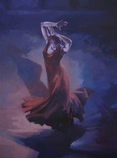 "Saatchi arte artista Zil Hoque;  Pintura, #art ""Evolución IV"""