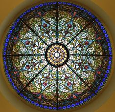 Stained glass dome...