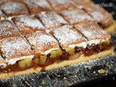 Grófkin koláč s rebarborou a so slivkami (fotorecept) - Recept Hot Dog Buns, Hot Dogs, Czech Recipes, 20 Min, Graham Crackers, Sandwiches, Food And Drink, Bread, 3