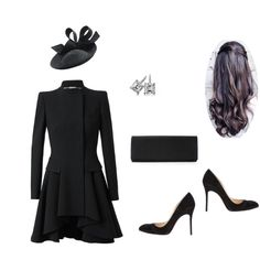 Fashion set funeral created via Funeral Dress, Funeral Outfits, Royal Fashion, Fashion Looks, Wedding Attire For Women, Latest Fashion For Women, Womens Fashion, Formal Wear Women, Royal Clothing