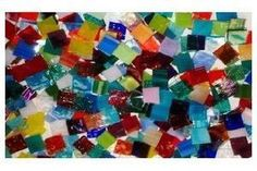 Bulk Discount - Random Mix Stained Glass Mosaic Tiles - Mosaic Tile Mania