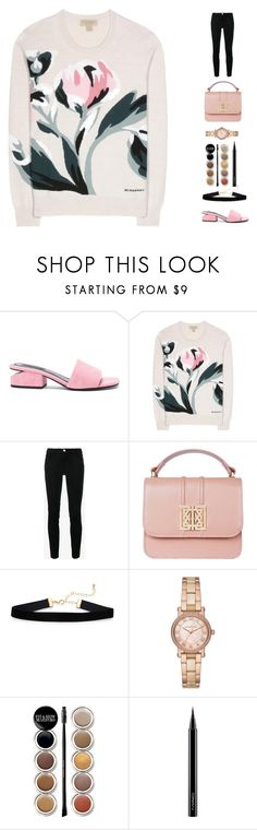 """""""Goodbye may seem forever, farewell is like the end. But in my heart's a memory, and there you'll always be. - The Fox and the Hound"""" by random11-1 ❤ liked on Polyvore featuring Alexander Wang, Burberry, Frame, Michael Kors, Giorgio Armani, MAC Cosmetics and minibags"""