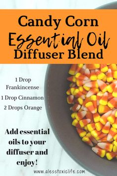 Awesome Essential Oil Blends That Smell Like Candy Candy Corn Essential Oil BlendCandy Corn Essential Oil Blend Fall Essential Oils, Vanilla Essential Oil, Essential Oil Diffuser Blends, Orange Essential Oil, Essential Oil Uses, Plant Therapy Essential Oils, Aroma Diffuser, Cedarwood Oil, Cedarwood Essential Oil