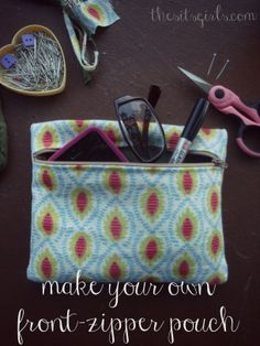 How To Make a Small Zippered Pouch {Make a Pouch}