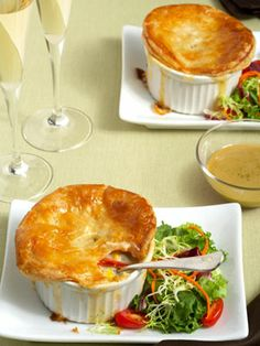Yummy Lobster potpies are so easy! Short on time? Use a frozen bag of pot pie veggies and cream of chicken soup!