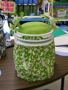 5 Gallon Bucket seats for guided reading table